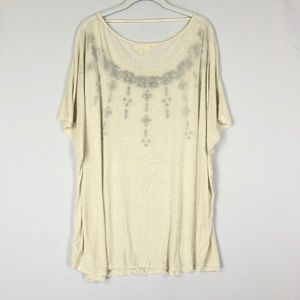 8187073ff7b09 dept 222 Tops - Dept 222 Oversized Top Plus Size 3X Embroidered